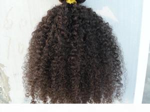 NOUVEAU Style Brésilien Couleur bouclée Clip de trame dans les extensions de cheveux humains Naturel Naturel Naturel Naturel Couleur 9pcs 1set Afro Kinky Curl