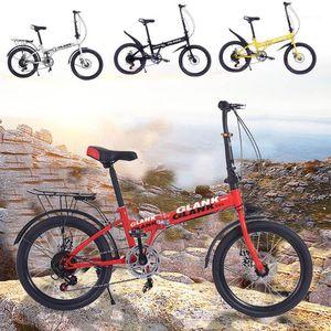 Bisikletler Katlanır Bisiklet Dağ Bisikleti 20 inç Hafif Mini Küçük Taşınabilir Yetişkin Öğrenci Kamp Yolu Fat Beach1