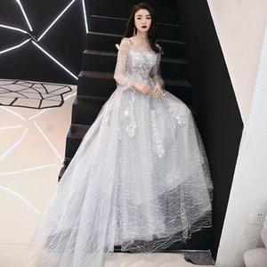 Plus Size Party Abiti Bianco Slim Chiffon Dress Abito cinese tradizionale Bride Abito di Charme Celebrity Banchetto Abiti Qipao Modern1