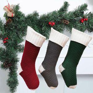 Christmas Stockings 18-inch Christmas Ornament Gift Bag Pet Adorable Plush Decoration Gift Holders 2021