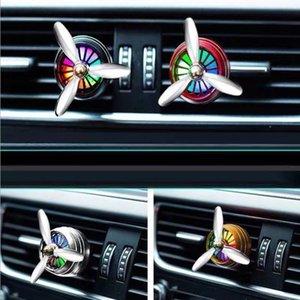 Aromatherapy House Эфирное масло Диффузор для автомобильного воздуха Освежитель парфюмерии Футтернальный зажим с светодиодом Бесплатная доставка GWD3133