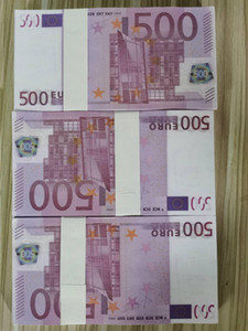 Vendite dirette della fabbrica di 500 Euro BankNotes Game Game Tokens Pratica dei soldi Giocattoli per bambini Giocattoli di tiro Puntelli Bar Atmosphere Props