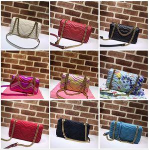 2021 Black Marmont Luxurys дизайнеры сумки Hot Solds Женские сумки влюбленные влюбленные волнистые цепь Crossbody сумка простые настоящие кожаные сумки