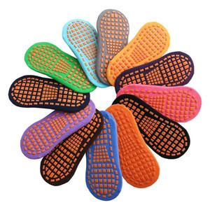 12 Color Trampoline socks non-slip floor socks Children parent-child early education adult home yoga Kids non-skid