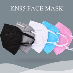 kn95 mascarar FFP2 designer de máscara facial de fábrica 95% filtro descartável mascarar não-tecidos máscaras boca Dustproof Windproof Respirador tecido de proteção