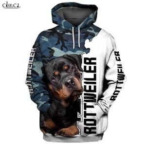 CLOOCL 2020 Fashion Animal Rottweiler Camo 3D Print Hoodie Men Women Casual Pet Dog Design Hooded Coat Drop Shipping