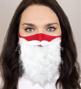 Holiday Santa Beard Face Mask Costume for Adults for Christmas (One Size fits All) Red NEW OWE3148