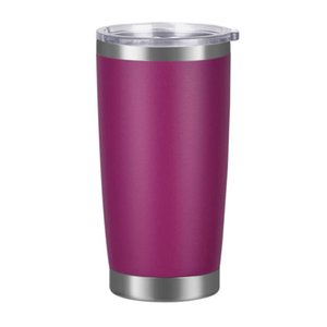 Stainless Steel Tumblers Egg Cups Mugs Wine Beer Travel 20oz Double Wall Vacuum Large Capacity Sports Mugs Ice Beer Mug For Cars GWF1828