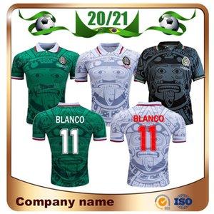 1998 Retro Edition Mexico Soccer Jersey 1998 Camicia da calcio della Coppa del Mondo Messico casa Blu Camicia da calcio Away White Uniformi di calcio a maniche corte