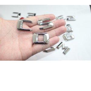 Krom Parlak Gümüş ABS Araba Gövde Arka Sayı Mektuplar Kelimeler Rozeti Amblem Çıkartması Sticker Mercedes-Benz için