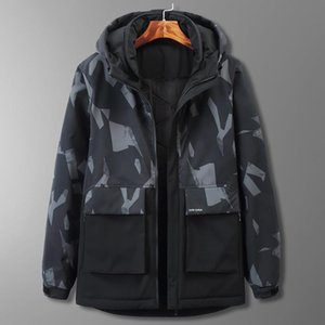 Boutique down cotton-padded clothes fertilizer plus-size long camouflage sports tooling add wool warm cotton-padded jacket coat