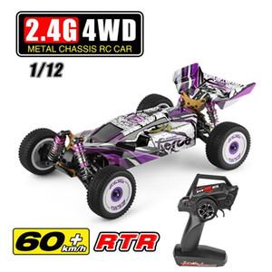 WLTOYS 124019 RTR 1/12 2.4G 4WD 60km / h CHASIS DE METÁLICO RC CAR 550 MOTOR CRUTEADO OFF-road Traking Truck Vehículos Modelos Juguetes para niños 201202