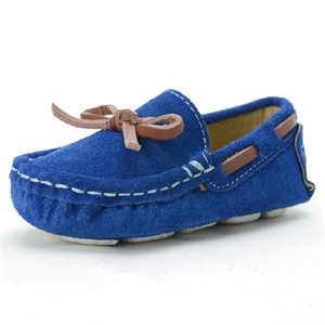 Girls Boys Shoes toddler Kids Loafers Oxford Leather Moccasins Baby Shoes Children School Girl Dance Shoes red Blue Cheap Flat Z1127