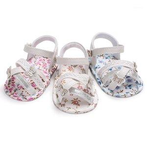Wonbo Babyschuhe PU-Leder Erster Wanderer Blumen-weiches Sohlen Anti-Slip-Neugeborenen Babyschuhe 0-18 Monate1