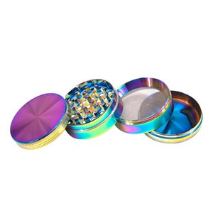 Rainbow glace bleue moulin en alliage de zinc meuleuses en métal 4 parties Herbe sèche broyeurs Herb Concasseurs 40mm Diamètre WQ700
