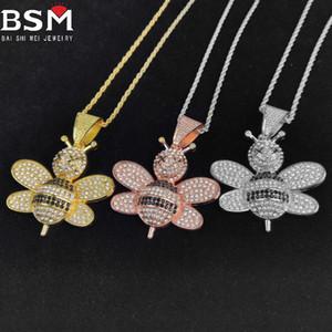 Collana di gioielli di moda per uomo e monili per donna Hip Hop Bee