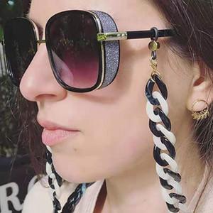 Acrylic Glasses Chain Fashion Black White Punk Colorful Non-slip Anti-lost Glasses Rope Mask Chain