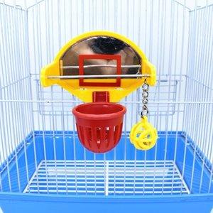 Lustige Papagei Vögel Spielzeug Mini Basketball Hoop Requisiten Parakeet Bell Ball Kauspielzeug Haustiervorräte