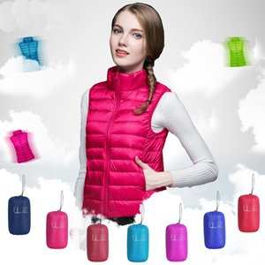Lightweight 90% women short jacket 2020 new down vest Female Spring Autumn Stand-up collar Loose plus size Slim coat