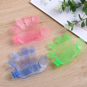Pet Grooming Glove Cats Brush Cat Hackle Pet Deshedding Brush Glove Animal Dog Pet Hair GloveS for Cat Dog Grooming