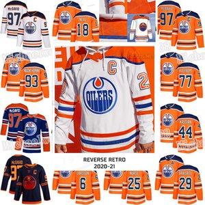 Edmonton Oilers 2021 Reverse Retro Connor McDavid Leão Dragaisaitl James Neal Mike Smith Nugent-Hopkins Kassian Klefbom Darnell Enfermeira Jersey