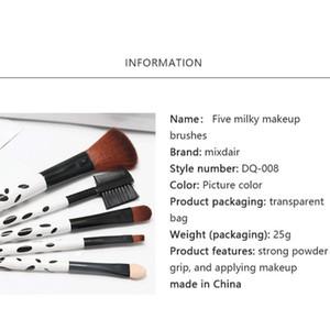 New 5pcs Sets Wooden Handle Makeup Brush Eyebrow Brush Foundation Powder Brush Multifunctional Cosmetics Beauty Tools Kit Hot sqckrI