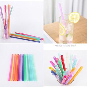 Paja de bebida de plástico PP reutilizable 9.45 pulgadas BPA Libre y ecológico Color Colorido Colores Amazon Soporta Paquete personalizado 145 K2