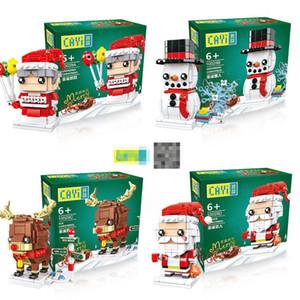 2020 Noel Noel Baba Granny Elk Kardan Adam Ağacı Modeli Yapı Taşları Hediye Oyuncaklar Çocuklar için Noel 10029