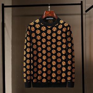 SEESTN TROUVER Nouveau Pull Men's Couleur Tricoté Couleur Blocage Magic Cube Mode Automne et Hiver Pull Homme Pull Casual Laine Sweater1