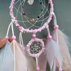 Colorido Handmade Dream Catcher Penas de Carro Casa Casa Pendurado Decoração Ornamento Presente Negócio Cumem Artesanato Decoração Supplies HHE2862