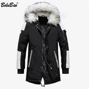 BOLUBAO Winter Brand Men Parkas Coats Men's Thick Warm Long Overcoat Fashion Casual Patchwork Hooded Parka Coat Male 201120