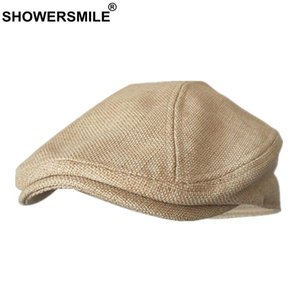 Flat For Cap Women Hats Cotton Solid Berets Caps Classic Summer Unisex Caps Retro Duckbill Colorful Linen Men Orange Showersmile bbyMq
