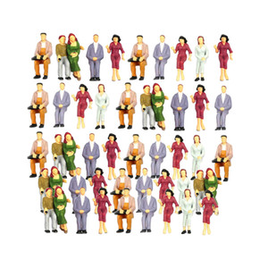100pcs Painted Model Train Seaked People Persone Passeggeri Figure 1: 75-1: 200