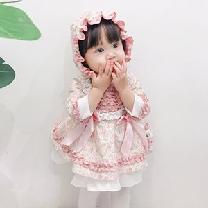 Baby Girl Lolita Floral Dresses Infant Princess Dress Summer Girls 1st Birthday Christening Party Frock Toddler Boutique Clothes 201204