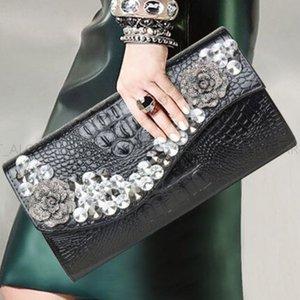 GRAB конверт металлическая цепь для банкетного плеча натуральные сумки с бриллиантами кожаный инкрустация высококачественной сумки большой емкости классическая сумка сумка La FNMA