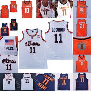 2020 Illinois Kampf Illini Basketball Jersie NCAA College Ayo Dosunmu Kofi Cockburn Trent Frazier Da'Monte Williams Miller Curbelo Feliz