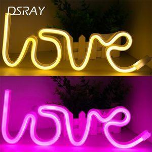 Creative LED Neon Light Sign Love Heart Wedding Party Decorazione NEON Lampada Neon Valentino Giorno Anniversario Home Decor Night Lamp Regalo 201028