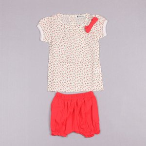 Clearance sale Summer baby girls suits floral Infant Outfits short sleeve tops t shirt+shorts 2pcs set baby girls clothes Z121