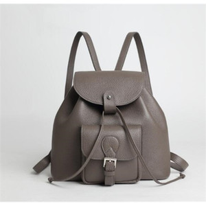 Genuine leather women large backpack shool bag A1113