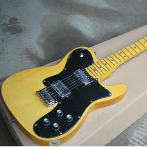 Prezzo basso di alta qualità GYTL-2034 TRASPARENTE TRASPARENTE colore giallo Body Body Fretboard 6 String TL Chitarra elettrica,