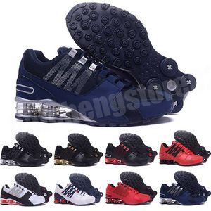shox 809 802 R4  Новые дешевые мужчины Classic Avenue 803 доставят унцию Chaussures Femme мужчины женские туфли спортивный тренер теннисные подушки кроссовки 40-46