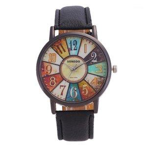 Moda donna Guarda numeri romani quadrante cinturino in pelle orologio Semplice casual da uomo e orologi da donna Marcas Famosas Dde Lujo Y501