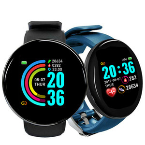 D18 Sport Smart Watch Bluetooth Smart Band Fitness Tracker Herzfrequenz Monitor Blutdruck D18 Smartwatch Für Android ios