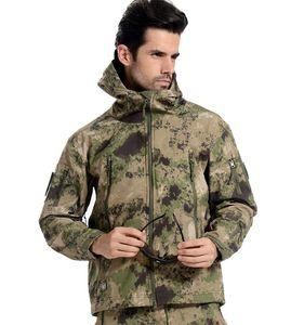 Shark Skin Soft Shell Tactical Jacket Men Waterproof Windbreaker Fleece Coat Hunt Clothes Camouflage Army Military Jacket