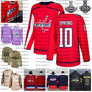 2021 Retro Retro Personalizar 10 Daniel Spring Washington Capitales Campeones Hockey Jersey Golden Edition Camo Veteranos Día Fights Cancer