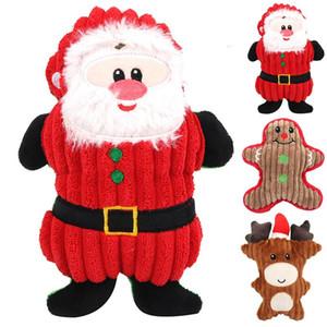 Новое Рождество Санта-Клаус ПЭТ собаки игрушки жевать пищужные плит плюшевые игрушки для собак милые кусающие веревочные звуковые игрушки кошка