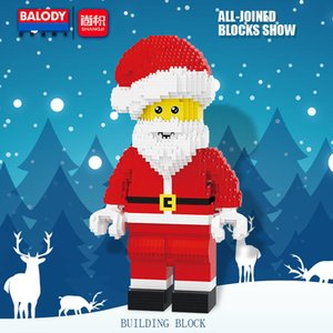 Balody Small Diamond Blocks 1910pcs Santa Claus Action Figures Building Bricks DIY Assembly Christmas Gifts For Kid Toy Q1126