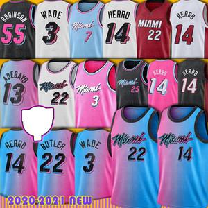 Jimmy 22 Butler Dwyane 3 Wade Jersey Tyler 14 Herro Miamis Bam 13 Adebayo Goran 7 Dragic Kendrick Robinson Nunn Basketball Jerseys