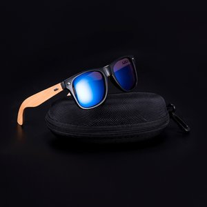 Bobo Bird Gafas de sol Hombres Mujeres Plaza Vintage Madera Gafas de sol Señoras Retro Polarizado Oculos Marca J1211