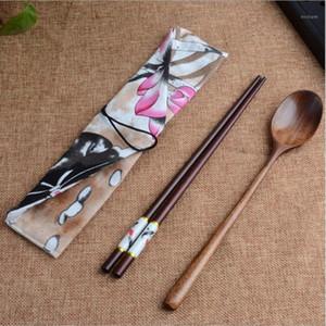 Bamboo Travel Chotnery Set Набор экологически чистых деревянных открытый портативный портативный посуда нулевые отходы бамбуковые столовые приборы набор FD1